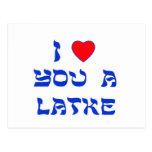 I Love You a Latke Post Cards