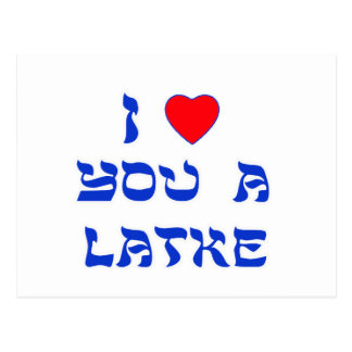 I Love You a Latke Postcard