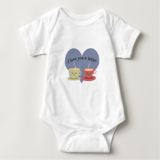 I love you a latte! baby bodysuit