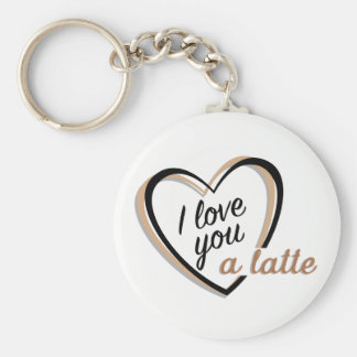 I love you a latte | Keychain