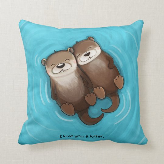 I Love You a Lotter Throw Pillow