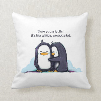 I LOVE You a Lottle Penguins - Pillow Cushion