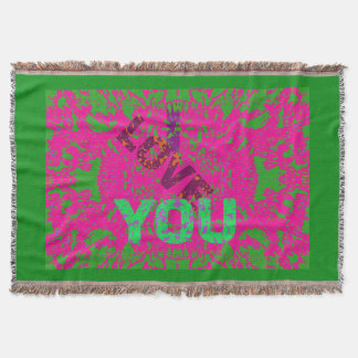 I LOVE YOU A Throw Blanket