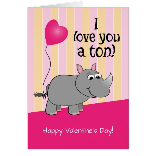 I Love You A Tonne! Rhino Valentine's Day