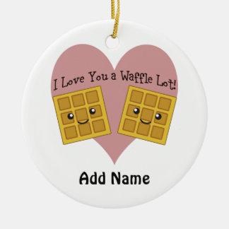 I Love You a Waffle Lot! Christmas Ornament