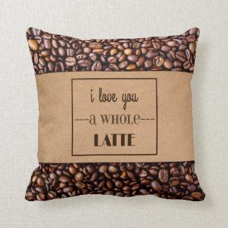 """I Love You a Whole Latte"" Coffee Sleeve & Beans Cushion"
