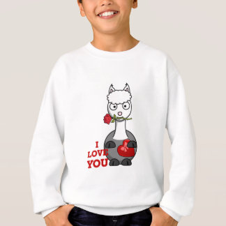 i love you alpaca sweatshirt