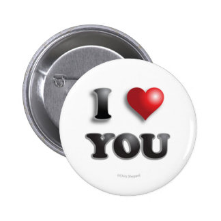 I LOVE YOU Anti Microagression Positive Good Happy 6 Cm Round Badge