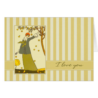 I Love You. Art Deco Valentine's Day Cards