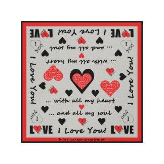 I Love You Artsy Hearts Gallery Wrap Canvas