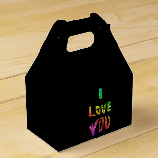 i love you background party favour box