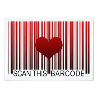 I LOVE YOU BARCODE CARD