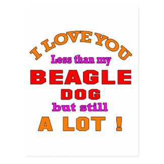I love you Beagle Dog Postcard