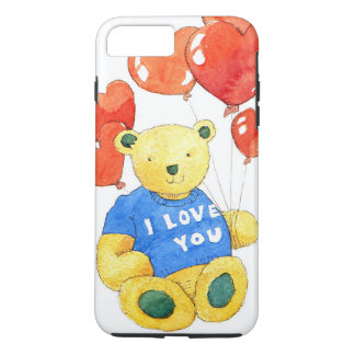I love you bear - balloon 2011 iPhone 7 plus case