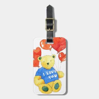 I love you bear - balloon 2011 luggage tag