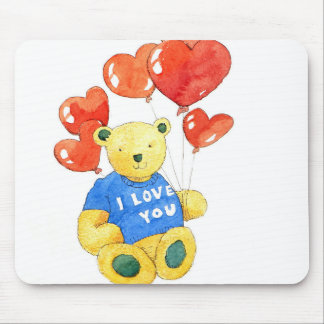I love you bear - balloon 2011 mouse mat