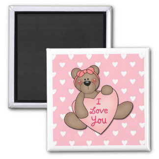 I Love You Bear Magnet