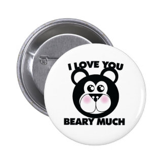 I Love you Beary Much 6 Cm Round Badge