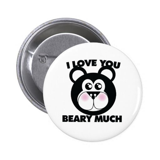 I Love you Beary Much Pin