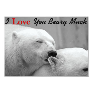 I Love You Beary Much Funny Valentines Day Cards