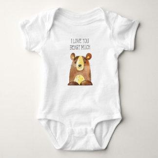 I Love You Beary Much, Woodland Bear Baby Grow Baby Bodysuit