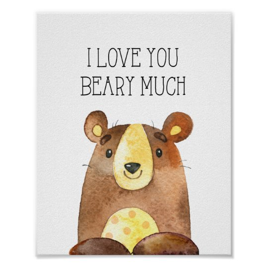 I Love You Beary Much, Woodland Bear Nursery