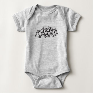 I Love You Blocks Baby Bodysuit