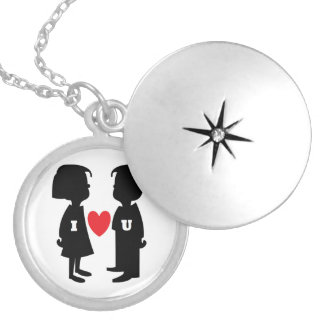 """""""I LOVE YOU""""  BOY AND GIRL LOCKET NECKLACE"""