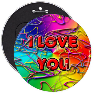 I LOVE YOU Button Buttons