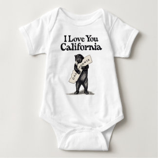 I Love You California Baby Bodysuit