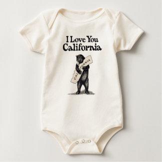 I Love You California Bear Hug Baby Bodysuit