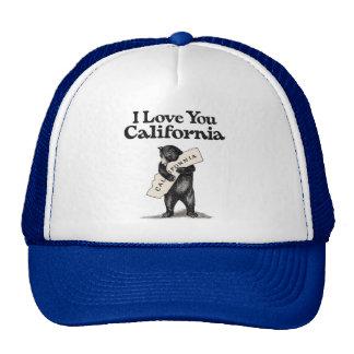 I Love You California Bear Hug Cap