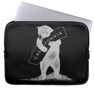 I Love You California--Black and Silver Laptop Sleeve
