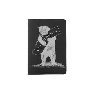 I Love You California--Black and Silver Passport Holder