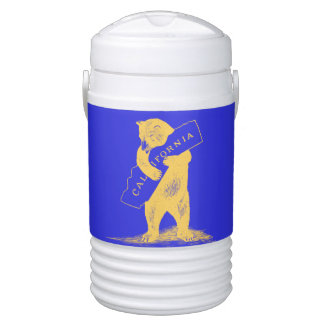 I Love You California--Blue and Gold Drinks Cooler
