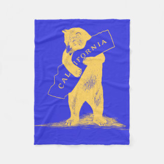 I Love You California--Blue and Gold Fleece Blanket
