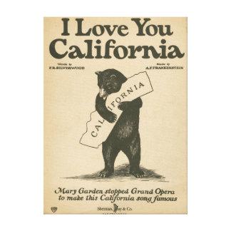 I Love You California Gallery Wrap Canvas