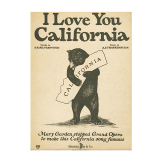 I Love You California Canvas Print