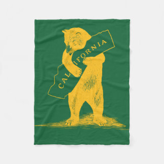 I Love You California--Green and Gold Fleece Blanket