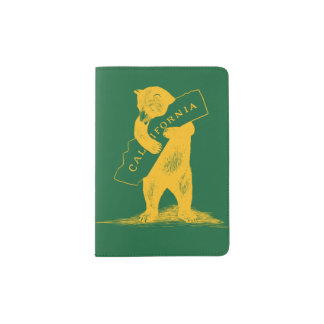 I Love You California--Green and Gold Passport Holder