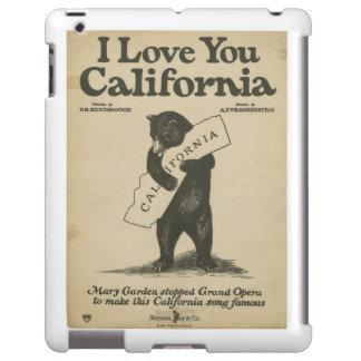 I Love You California iPad Cover