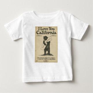 I Love You California Kid's Shirt