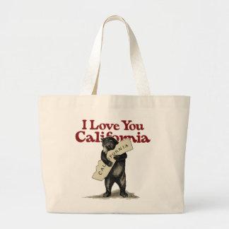 I Love You California Large Tote Bag