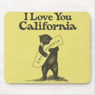 I Love You California Mouse Mat