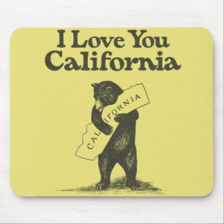 I Love You California Mouse Pad
