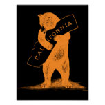 I Love You California--Orange and Black Poster