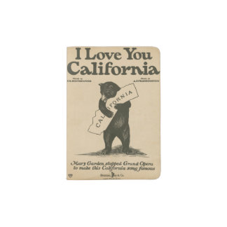 I Love You California Passport Holder