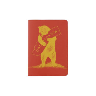 I Love You California--Red and Gold Passport Holder