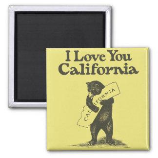 I Love You California Square Magnet