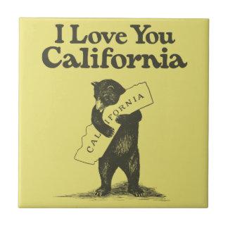 I Love You California Tile